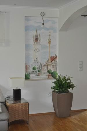 Angela ramsauer wandmalerei - Wandmalerei wohnzimmer ...